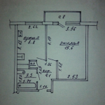 Продам 1-комнатную квартиру в аг.Долгое общей площадью 32 м2