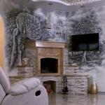 Роспись стен, декоративная штукатурка