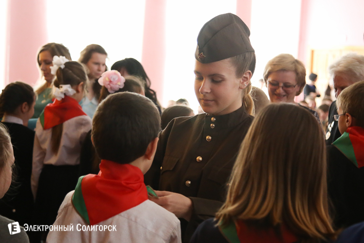 День Победы СШ 4 солигорск